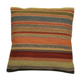 Ooty Stripe Wool Kilim Cushion, Large, Cover Only