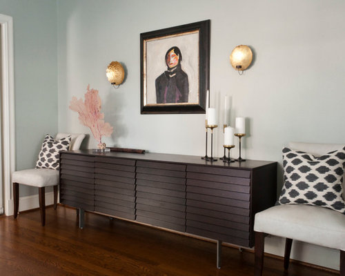 White Credenza Traditional Living Room Toronto By Tim