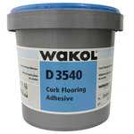 Globus Cork - Water-Based Latex Contact Adhesive for Cork Tiles, One Gallon - This water-based latex contact adhesive has no VOCs. This product is to be used with Globus Cork tiles. Apply the adhesive with a roller to the subfloor and wait for it to turn clear and tacky.  Globus Cork tiles are pre-glued with the same adhesive. Stick Globus Cork tiles down on the tacky clear adhesive and then hit with a rubber mallet to ensure good contact. Very easy to use.
