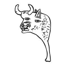 """Guernica Bull Wall Sticker, 44""""x70"""""""