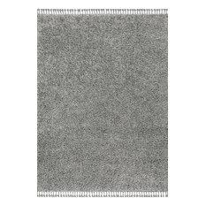 Mercer Shag Plush Tassel Charcoal 8' x 10' Area Rug