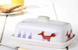 Fox and Rabbit Butter Dish