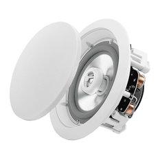 """Weather Resistant Indoor/Outdoor In-Ceiling Speakers, 150 W, Set of 2, 6.5"""""""