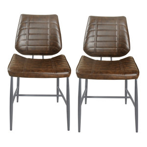 Liam Faux Leather Dining Chairs, Set of 2, Chestnut