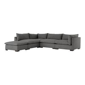 Tapio 4 Pc Sectional W/ Ottoman Bc  Augustine furniture