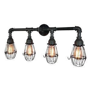 Retro Farmhouse 4-Bulb Vanity Light