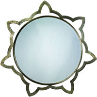 Sante Mirror, Antique Silver, Large