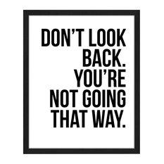 """Don't Look Back"" Framed Print, 40x50 cm"