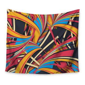 68 x 80 KESS InHouse Danny Ivan Weird Surface Blue Red Wall Tapestry