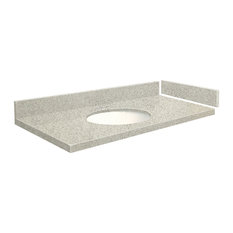 Transolid 28.25 in. Quartz Vanity Top in Portage Pass with 4in Centerset