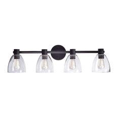 Oil Rubbed Bronze Bathroom Lighting industrial oil-rubbed bronze bathroom vanity lights | houzz