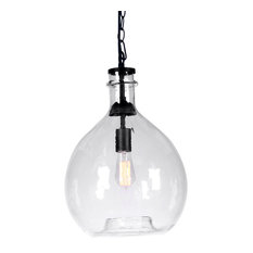 casamotion wavy hammered handblown glass pendant light pendant lighting - Glass Pendant Lighting
