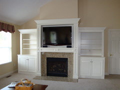 TV over the fireplace. Yes or no?