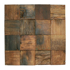 "12""x12"" Reclaimed Boat Wood Tile"
