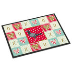 "Caroline's Treasures - Racing Pigeon Love Indoor/Outdoor Mat 18x27 - ""Caroline's Treasures Racing Pigeon Love Indoor or Outdoor Mat 18x27 doormats, Multicolor""INDOOR / OUTDOOR FLOOR MAT 18 inch by 27 inch Action Back Felt Floor Mat / Carpet / Rug that is Made and Printed in the USA. A Black binding tape is sewn around the mat for durability and to nicely frame the artwork. The mat has been permenantly dyed for moderate traffic and can be placed inside or out (only under a covered space). Durable and fade resistant. The back of the mat is rubber backed to keep the mat from slipping on a smooth floor. Wash with soap & water."