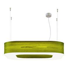 ICONO   Icono Lighting Large Square Series Pendant Lamp, Green   Pendant  Lighting