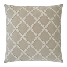 Nicholas Modern Classic Square Taupe Feather Down Pillow - 24 x 24