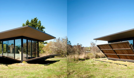 Architecture : Une cabane d'écrivain se replie sur elle-même