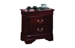 Louis Philippe Style Casual Night Stand, Cherry