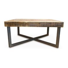 Reclaimed Wood Coffee Table Tube Steel Legs