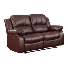 Center Hill Reclining Sofa Collection Brown Loveseat