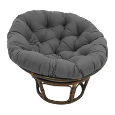 "44"" Solid Twill Papasan Cushion, Fits 42"" Papasan Frame, Steel Gray"