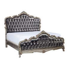Chantelle Tufted Bed, Silver Gray, King