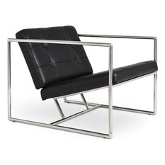 Gus Modern Delano V2 Armchair, Jet Black Leather