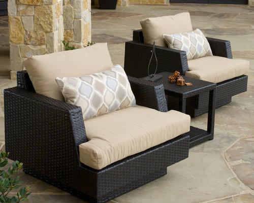 Portofino™ Comfort 3pc Club Chair Set in Espresso - Products - Portofino™ Collection