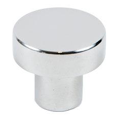"1-1/8"" Modern Round Knob, Chrome"