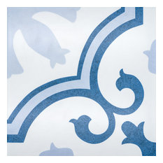 Palma 10 x 10 Ceramic Tile for Floor/Wall in Blues and White