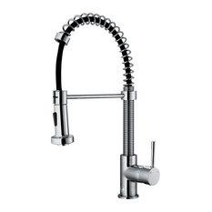 vigo industries vigo pullout spray kitchen faucet chrome without extras - Kitchen Faucets