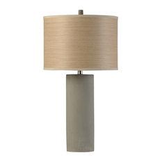 Berkley Woods, Bryan Keith Branded, Concrete Body Lamp, Liner Tree Print Shade