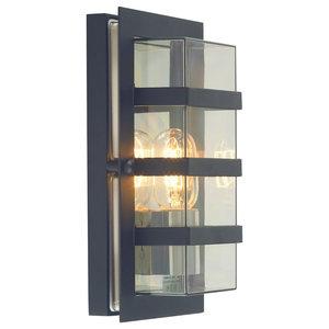 E27 IP54 Outdoor Wall Light, Black