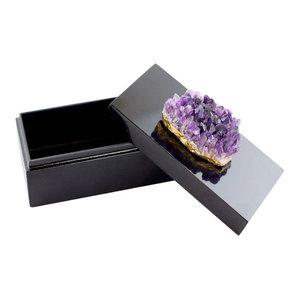 Amethyst Lacquer Box, Black