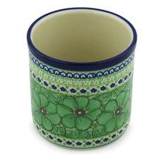 "Polmedia Polish Pottery 6"" Stoneware Utensil Jar"