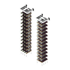 Wall Mounted Buoyant Cable Wine Rack, Chrome