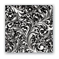 Michel Design Works Paper Luncheon Napkins, Black Florentine