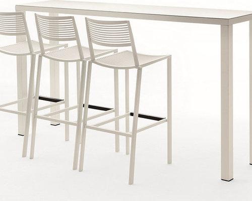 New Easy Barbord 110x200x70cm, Vit - Udendørs caféborde