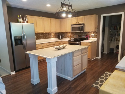 Steel Support Needed For Kitchen Island With Quartz Countertop