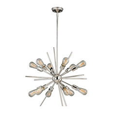 Estelle 12-Light Pendant, Polished Nickel