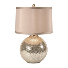 Imax Bolton Mercury Glass Lamp, Brown and Beige
