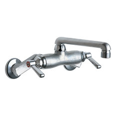 Chicago Faucets 737 Wall Mounted Service Sink Faucet with Cast Swing Spout and