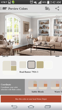 peachy garden grove home depot. I found three colors that might work  especially if you do a beige sofa Help Choose Paint Wall Color