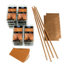 Aspect 3in x 6in Brushed Long Grain Metal 15sq. ft. Kit, Copper