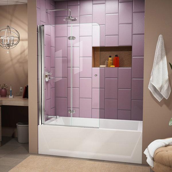 door unidoor lux in hinged x home frameless p inch doors shower chrome dreamline en