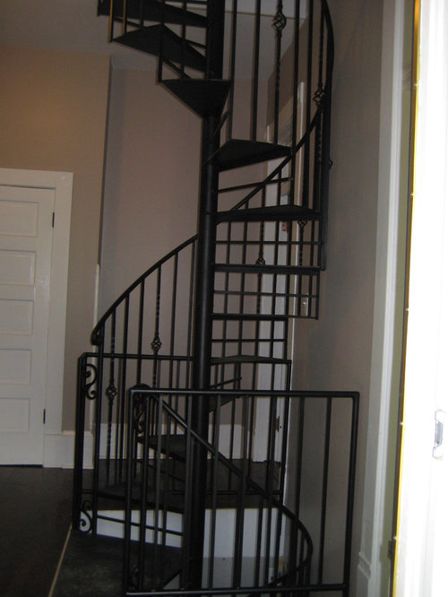 Custom iron spiral staircases for 2 story spiral staircase