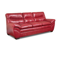 Lane Home Furnishings - Soho Bonded Leather Sofa, Cardinal - Sofas