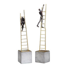 Uttermost Ladder Climb Sculpture, 2 Piece Set