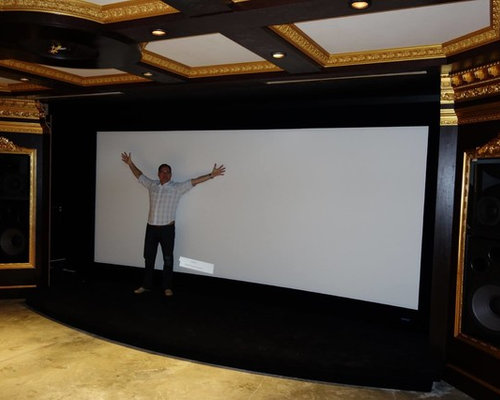 Largest home theater projection screen
